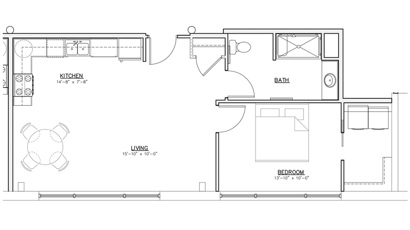 Floorplan   One Bedroom   01