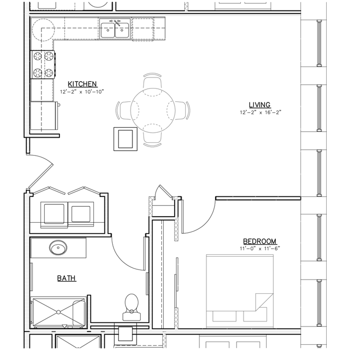 Floorplan | One Bedroom | 02