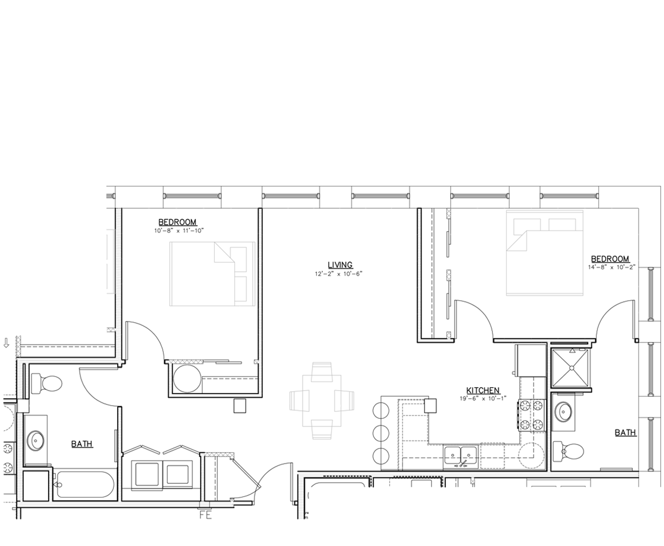 Floorplan | Two Bedroom | 01