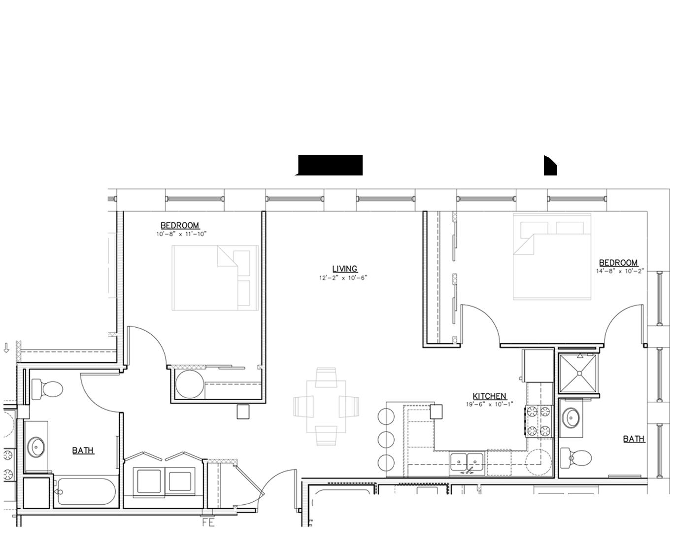 Floorplan   Two Bedroom   01