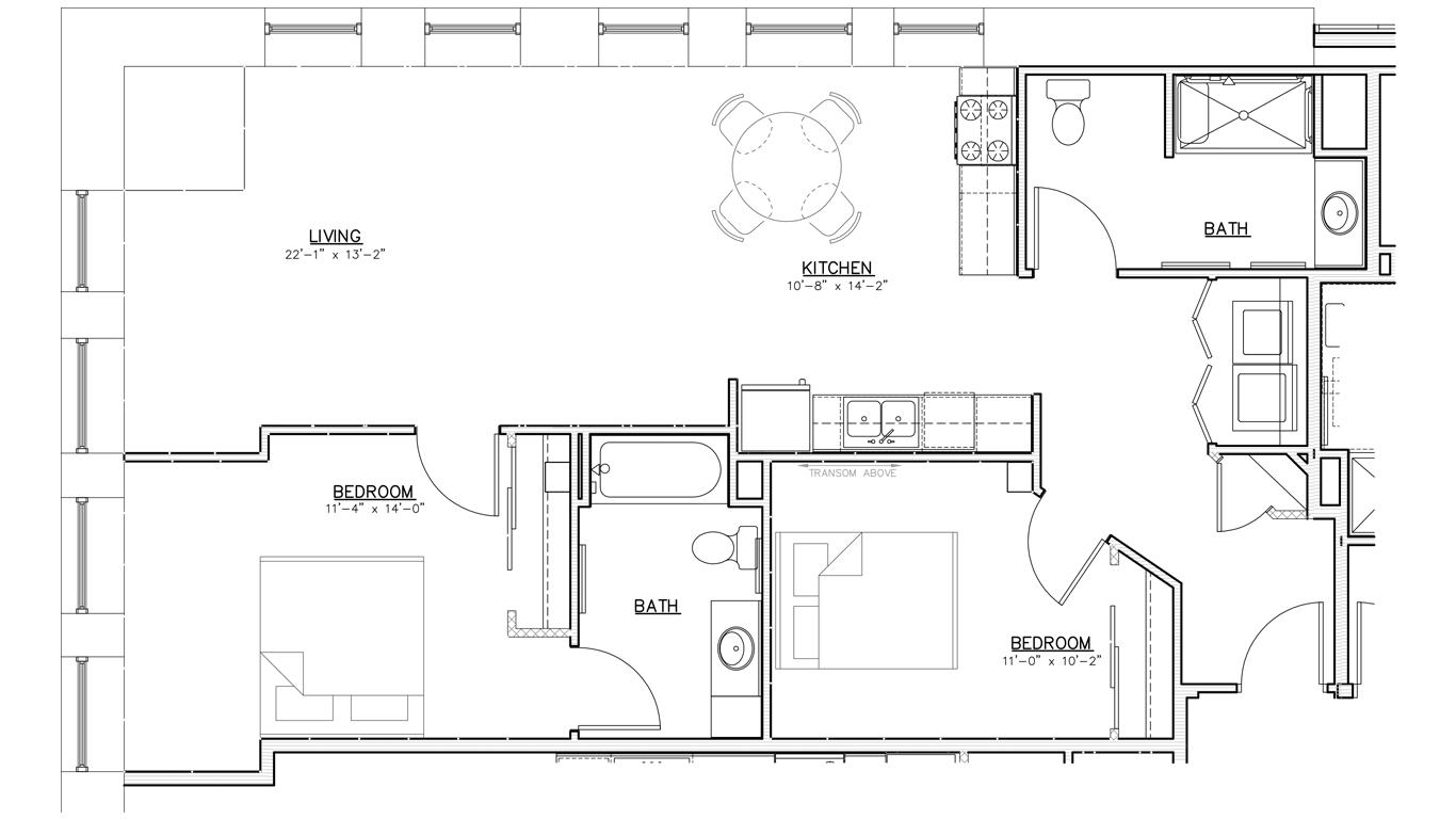 Floorplan | Two Bedroom | 02