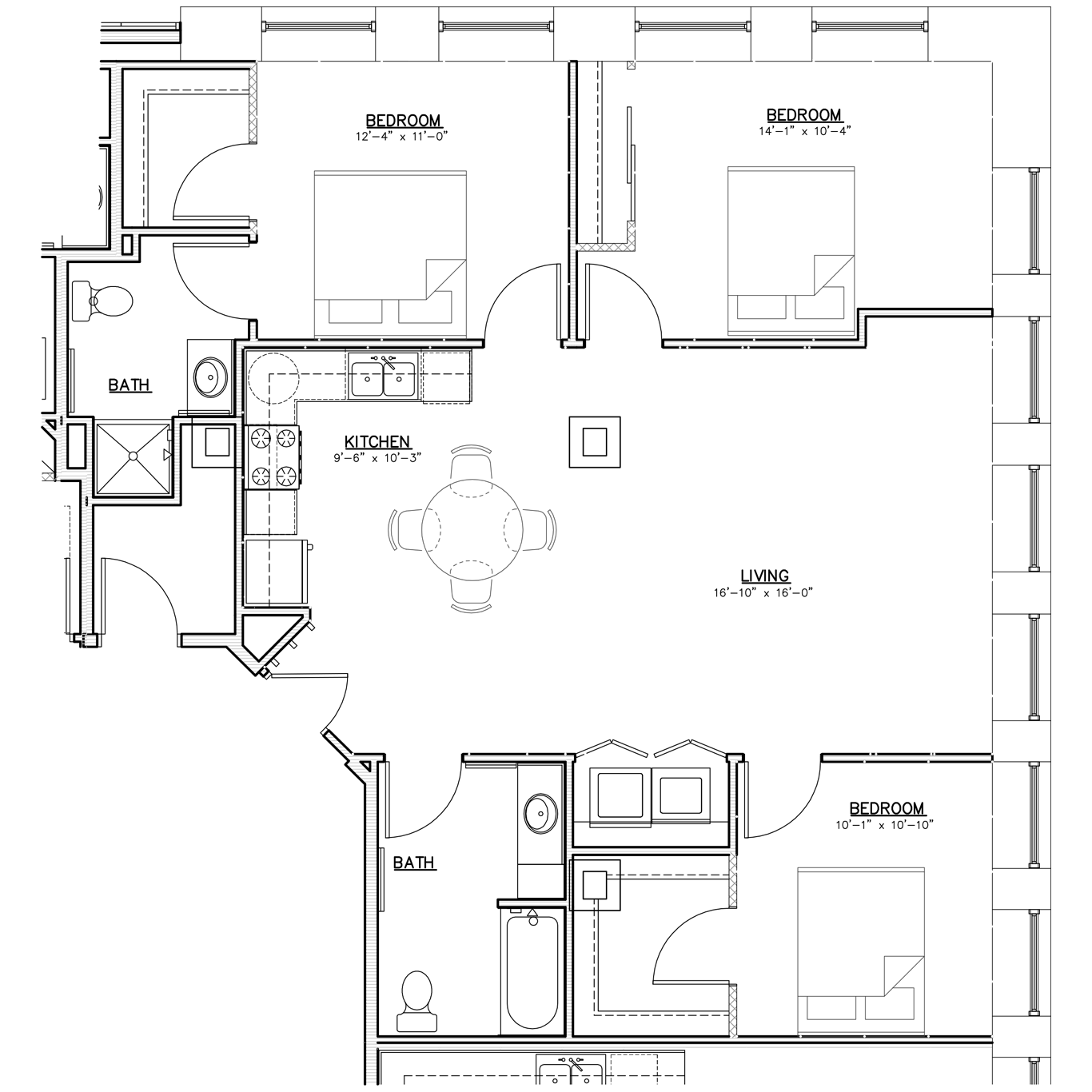 Floorplan | Three Bedroom | 01