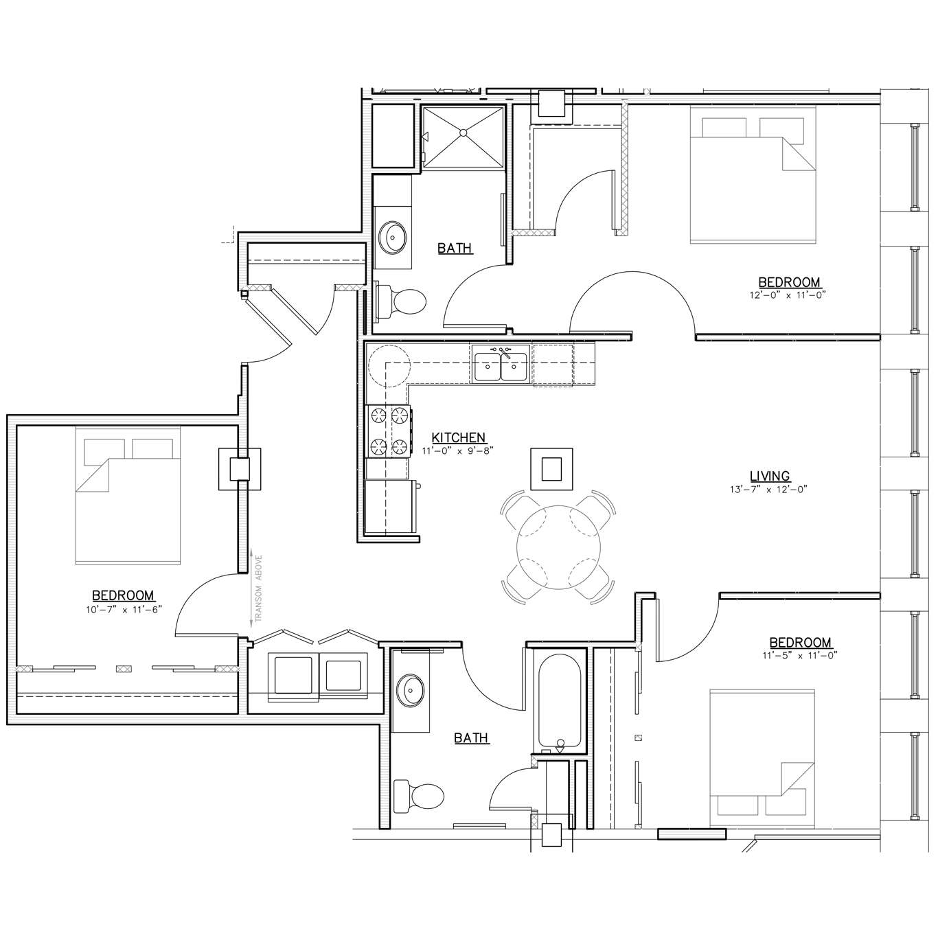 Floorplan | Three Bedroom | 02